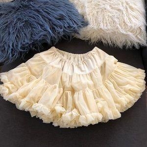 American apparel multilayered reversible petticoat